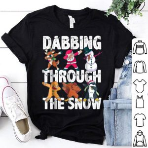 Original Christmas Santa Friends Dabbing Through the Snow Gift sweater