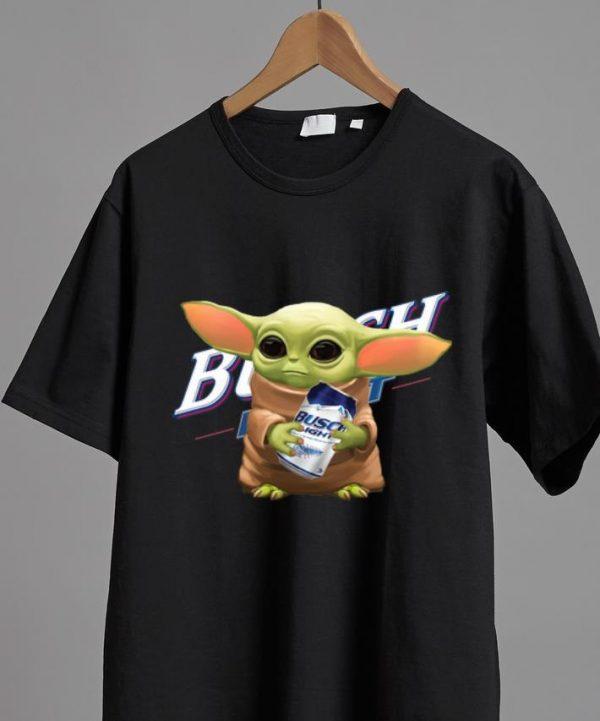 Original Star Wars Baby Yoda Hug Busch Light shirt
