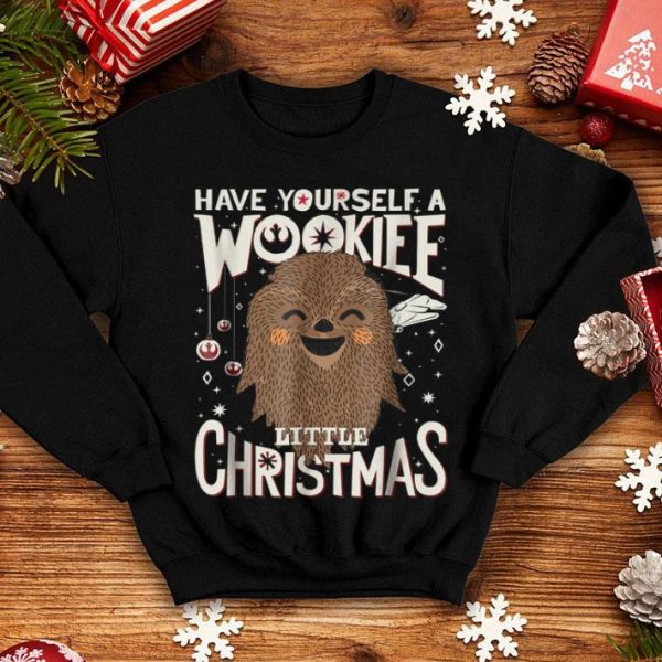 Original Star Wars Wookiee Little Christmas Sketched Graphic sweater