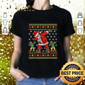 Premium African American Dabbing Santa Elf Ugly Christmas sweater