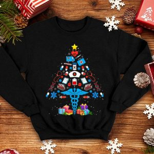 Premium Christmas Tree Medical Tools Funny Nurse Christmas Gifts sweater