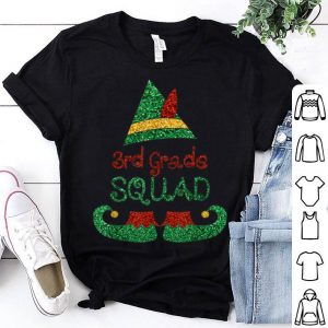Top 3rd Grade Squad Teachers Christmas ELF Matching Kids Gifts sweater