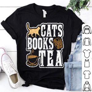 Top Cats Books Tea Lover Woman Birthday Christmas Gifts Readers sweater