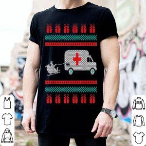 Top Christmas Ugly Sweater Ambulance Emergency EMT Santa sweater