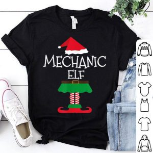 Top Funny Mechanic Elf Christmas Matching Family Tees sweater