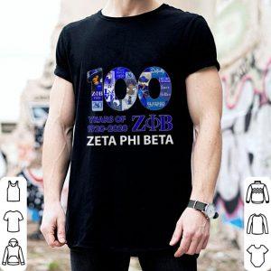 100 years of 1920 2020 Zeta Phi Beta logo shirt