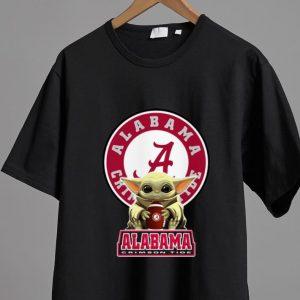 Awesome Star Wars Baby Yoda Hug Alabama Crimson Tide shirt 1