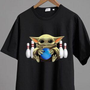 Great Star Wars Baby Yoda Hug Bowling shirt