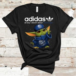Hot Baby Yoda Adidas All Day I Dream About Volkswagen shirt