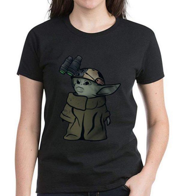 Nice Baby Yoda Soldier Binoculars shirt