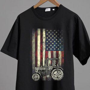 Nice Vintage Tractor American Flag Patriotic shirt