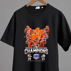 Original 2019 Playstation Fiesta Bowl Champions Clemson Tigers shirt 1