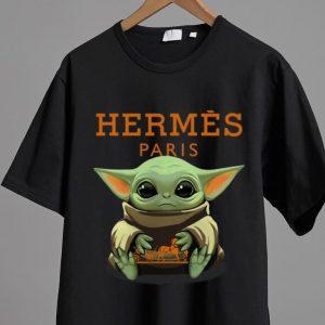 Pretty Star Wars Baby Yoda Hug Hermes Paris shirt