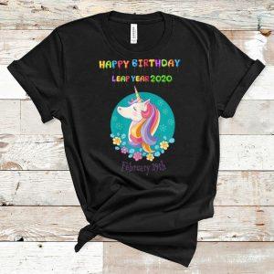 Top Leap Day 2020 Happy Birthday Unicorn Bruary 29th shirt