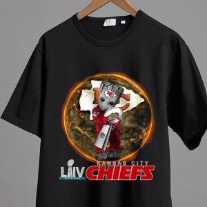Awesome Baby Groot Hug Super Bowl Champs Cup LIV Kansas City Chiefs shirt 1