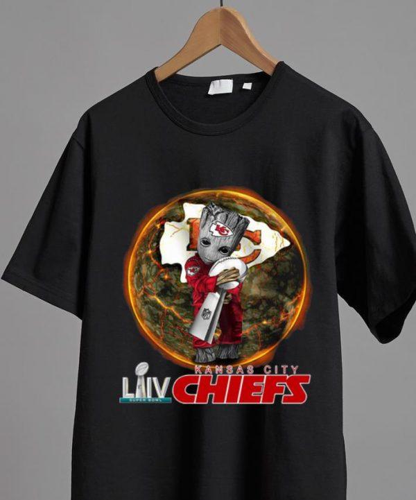 Awesome Baby Groot Hug Super Bowl Champs Cup LIV Kansas City Chiefs shirt