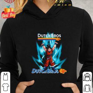 Funny Son Goku Mashup Dutch Bros coffee Genki Dama shirt