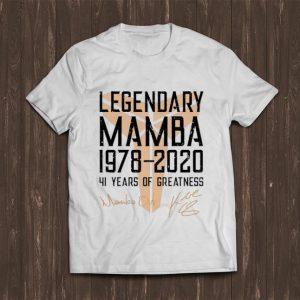 Great Legendary Mamba 41 Years Of Greatness Kobe Bryant Signature shirt