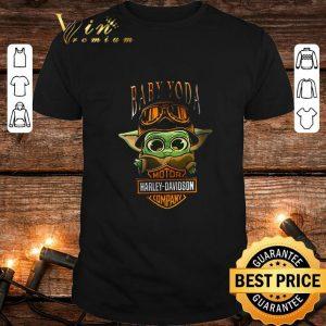 Premium Baby Yoda Motor Harley-Davidson company Star Wars shirt
