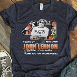 40th Years Of 1980-2020 John Lennon Signature Thank You For The Memories shirt