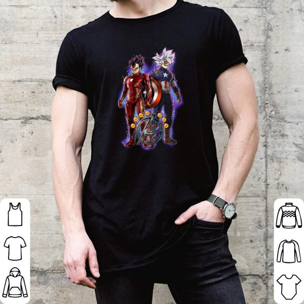 Goku and vegeta dragon ball z marvel avengers endgame shirt
