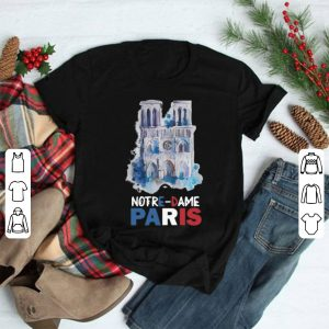 Paris France City Notre Dame Cathedral shirt