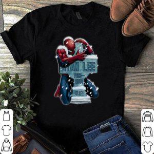Spiderman hug grave Stan Lee 1922-2018 Rip shirt