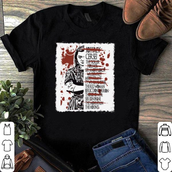 Arya Stark kills list shirt