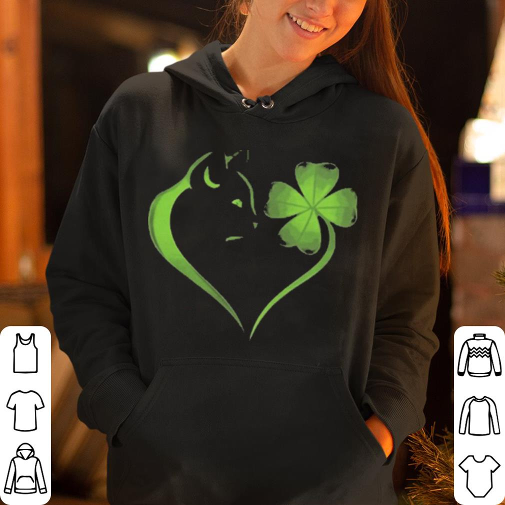 Cat Irish Four leaf clover heart shirt 4 - Cat Irish Four leaf clover heart shirt