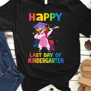 Dabbing Rainbow Unicon Happy Last Day Of Kindergarten Gradutaion shirt