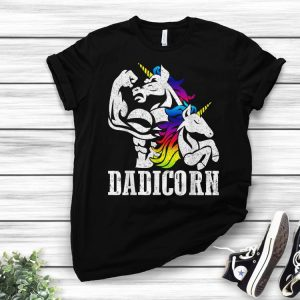 Dadicorn Dad Unicorn Fathers Day shirt