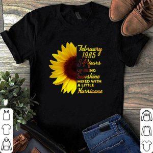 February 1985 34 Years Of Being Sunshine Mixed Hurricane shirt