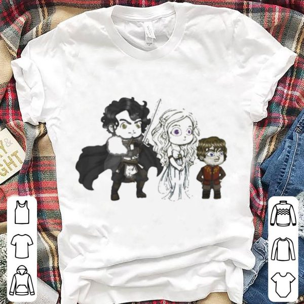 Game Of Thrones Jon Snow Daenerys Targaryen Tyrion Lannister chibi shirt