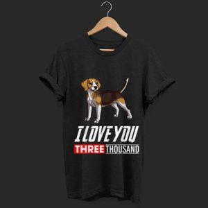I Love You 3000 Beagle Dog shirt