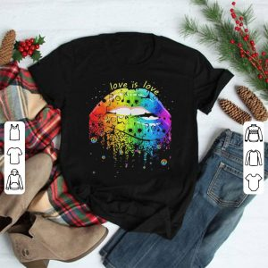 LGBT Love Is Love Human skull Color Lips shirt