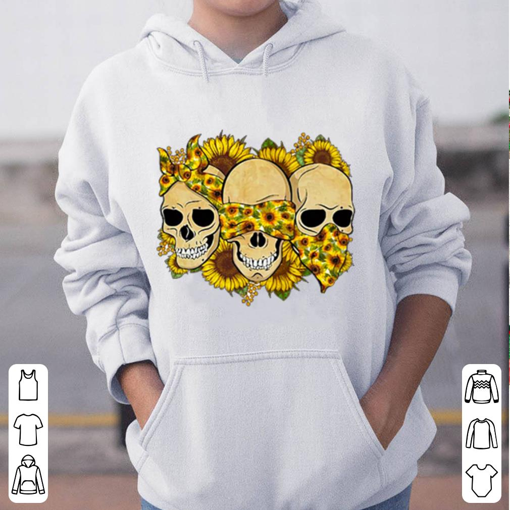 Skulls sunflower floral flowers shirt 4 - Skulls sunflower floral flowers shirt