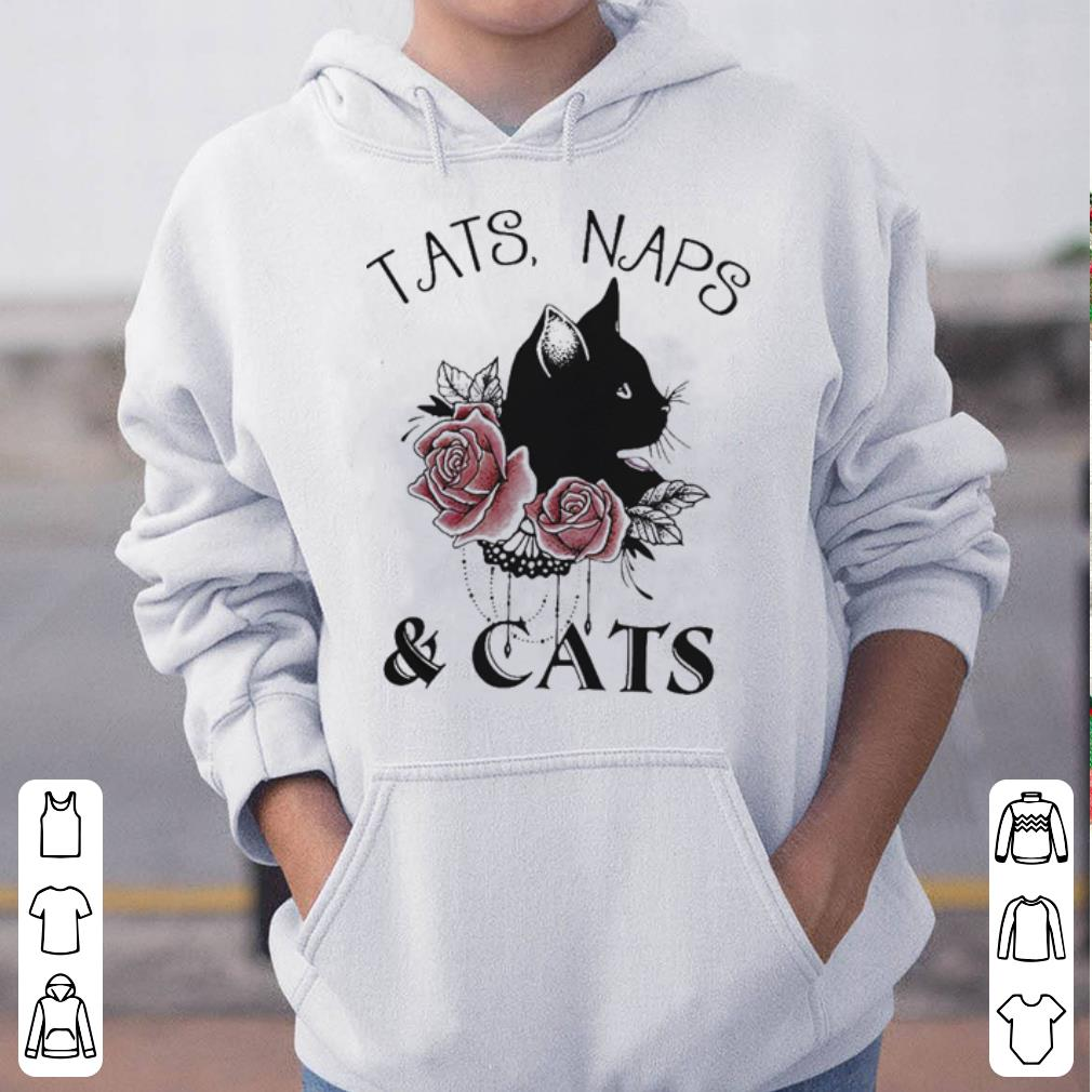 Tats naps and cats flower shirt 4 - Tats naps and cats flower shirt