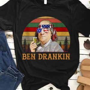 Vintage Ben Drankin Benjamin Franklin Independence Day shirt