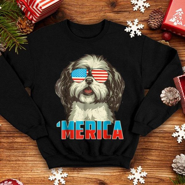 4th Of July Patriot Shih Tzu Merica For Women Men Shirt