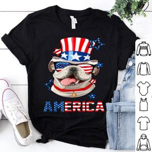 America English Bulldog Dog 4th of July shirt