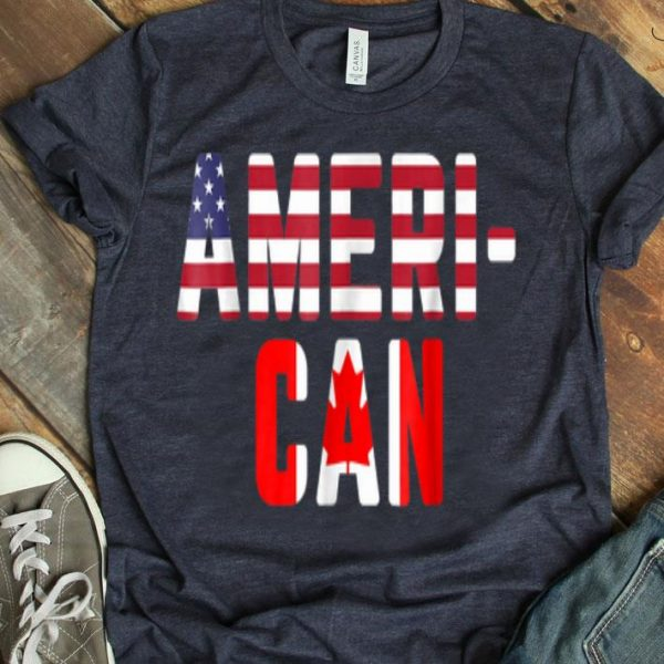 American Canadian Flag America Canada Patriotic Shirt