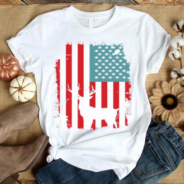 American Flag Hunting Deer Shirt