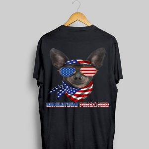 American Flag Miniature Pinscher Dog Lover shirt