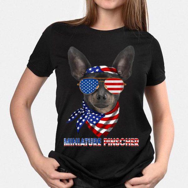 American Flag Miniature Pinscher Dog Lover shirt
