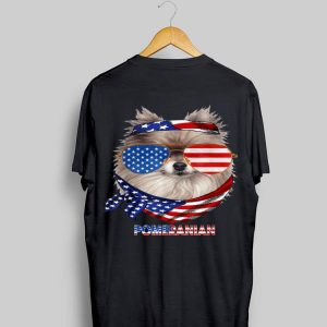 American Flag Pomeranian Dog Lover shirt
