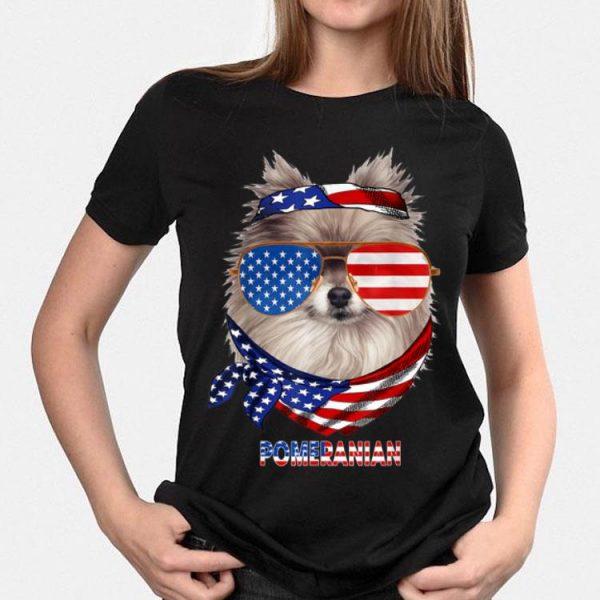 American Flag Pomeranian Dog Lover shirt