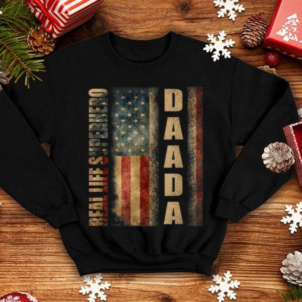 American Flag Real Life Superhero Daada Fathers Day shirt
