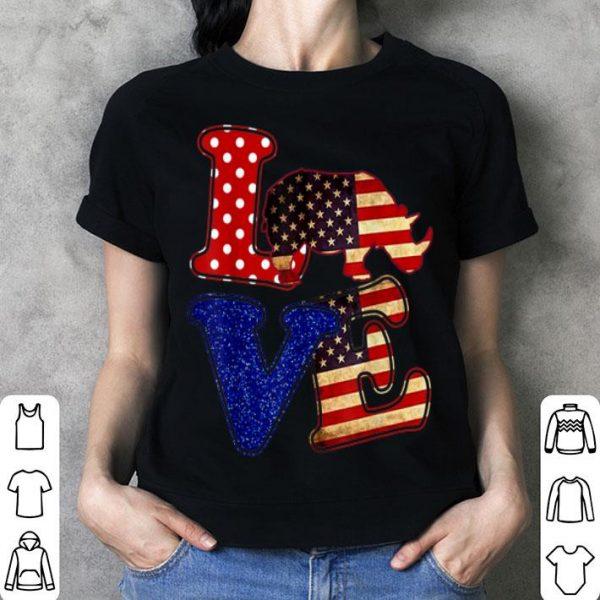 American Flag Rhinoceros Conservation shirt