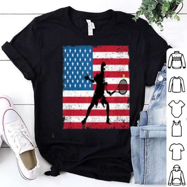 American Flag Tennis 4th Of July Independence Day shirt