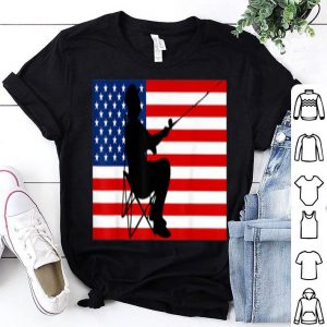 American Patriotic Fisherman 4th Of July USA Flag shirt